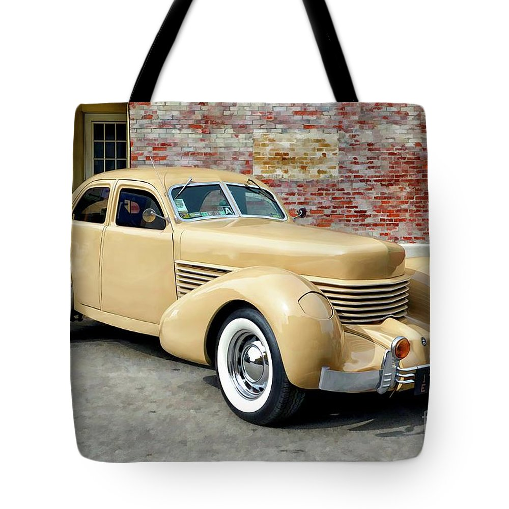 1936 Tote Bag featuring the digital art 1936 Cord by Larry Dove