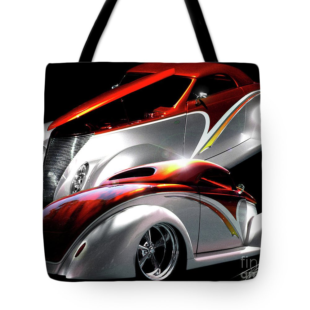 1937 Ford Coupe Tote Bag featuring the photograph 1936 Striped Coupe by Peter Piatt