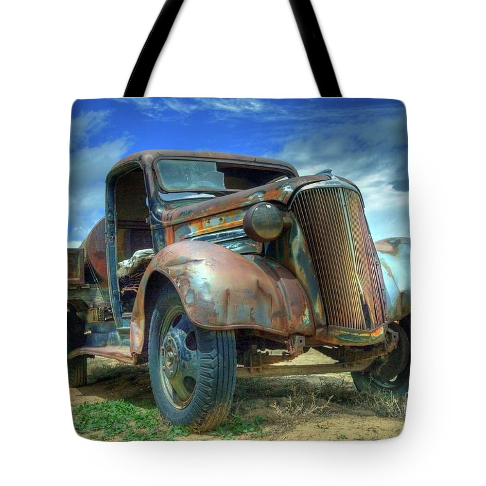 Truck Tote Bag featuring the photograph 1937 Chevrolet by Tony Baca