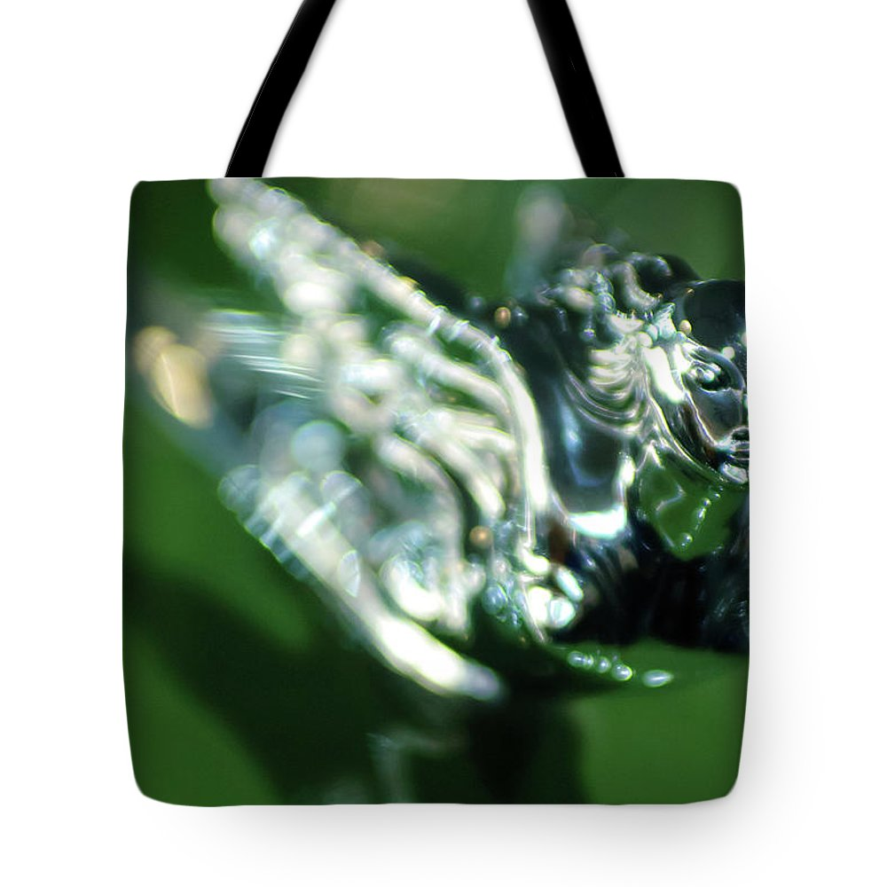1941 Cadillac Series 62 Convertible Sedan Tote Bag featuring the photograph 1941 Cadillac Convertible Sedan Hood Ornament by Jill Reger