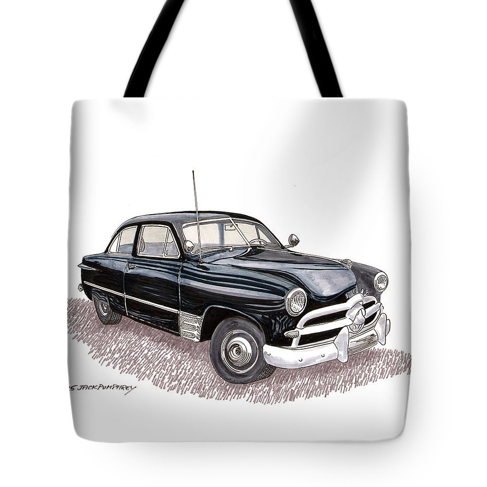 1949 Ford Two Door Sedan Tote Bag For Sale By Jack Pumphrey 2 Framed Poster Prints Of A Featuring The Painting