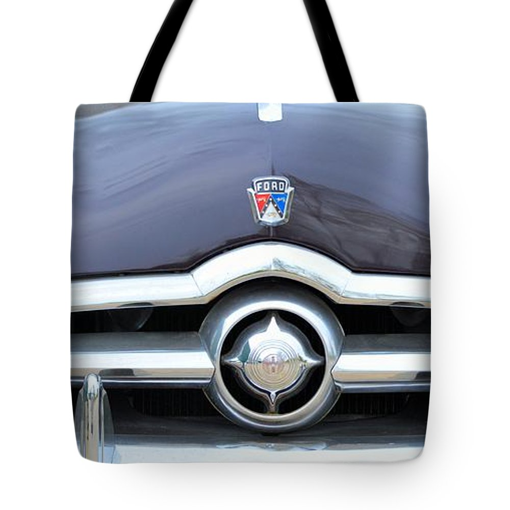 50s Tote Bag featuring the photograph 1950's Ford Sedan by Bonfire Photography