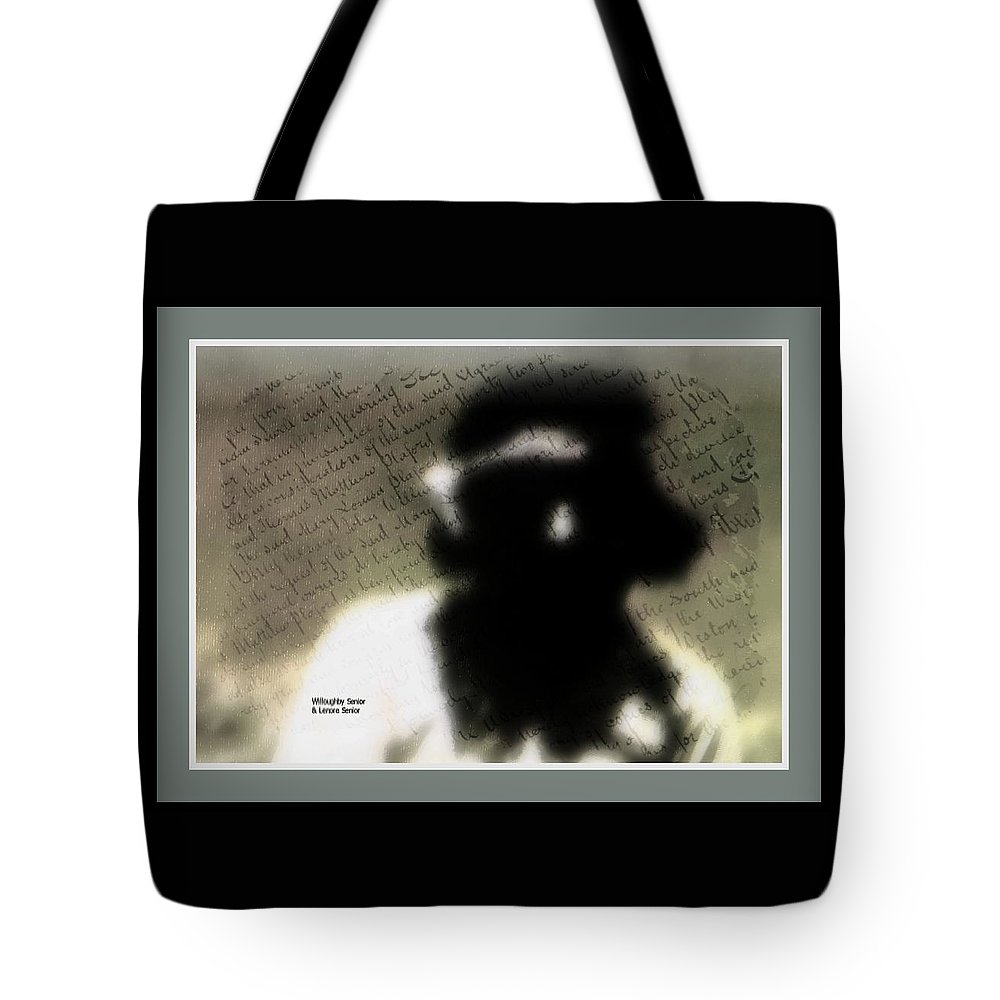 Abstract Tote Bag featuring the photograph 1950's - Hopi Mystery by Lenore Senior and Willoughby Senior