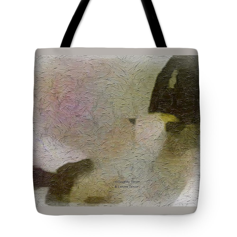 Abstract Tote Bag featuring the digital art 1950's - Navajo Rodeo - Dust by Lenore Senior