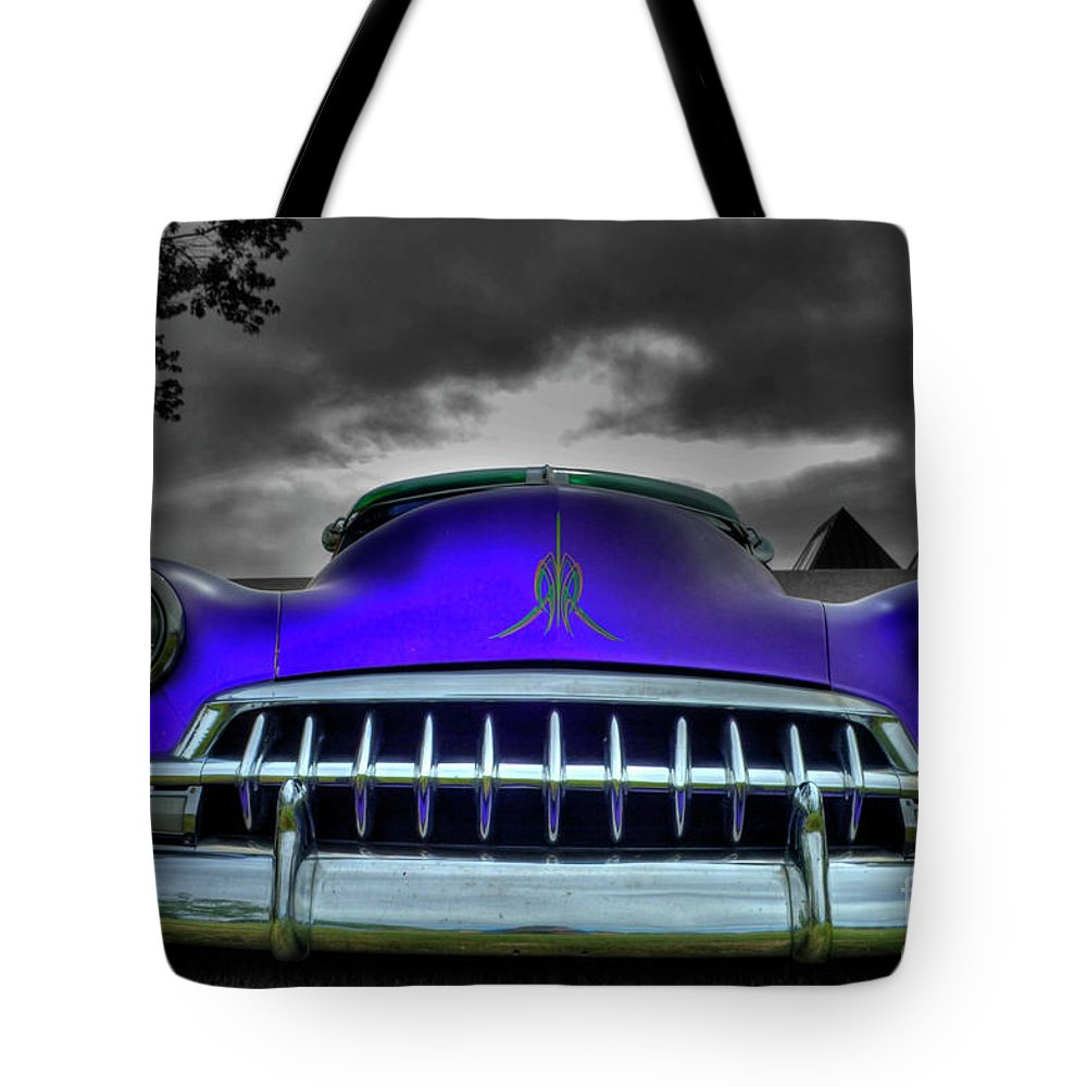 Chevrolet Tote Bag featuring the photograph 1952 Chevrolet by Tony Baca