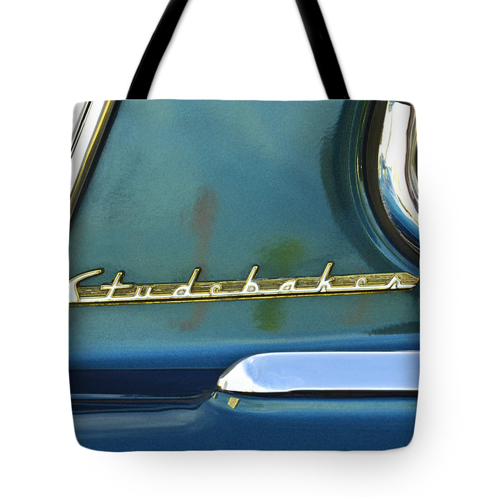 Car Detail Tote Bag featuring the photograph 1953 Studebaker Champion Starliner Abstract by Jill Reger