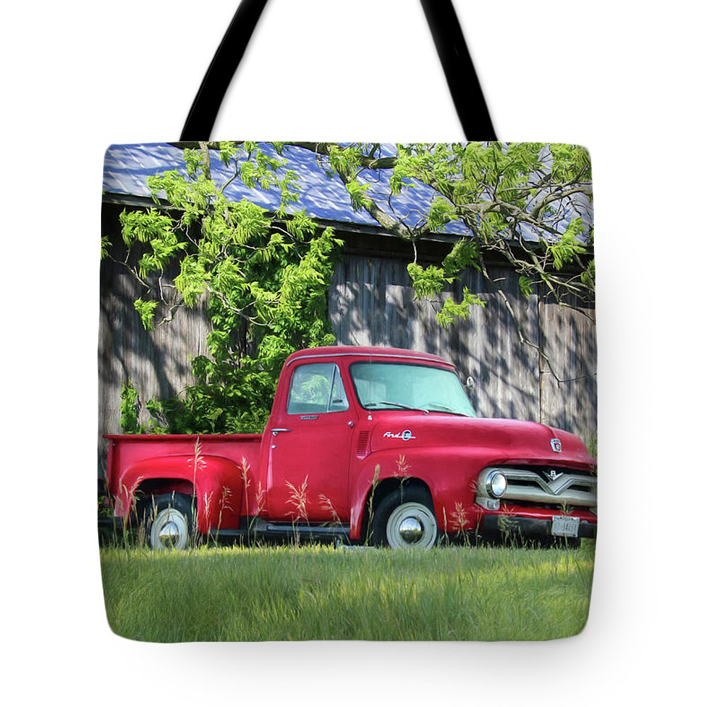 1955 Ford F100 Truck Tote Bag for Sale by Lori Deiter