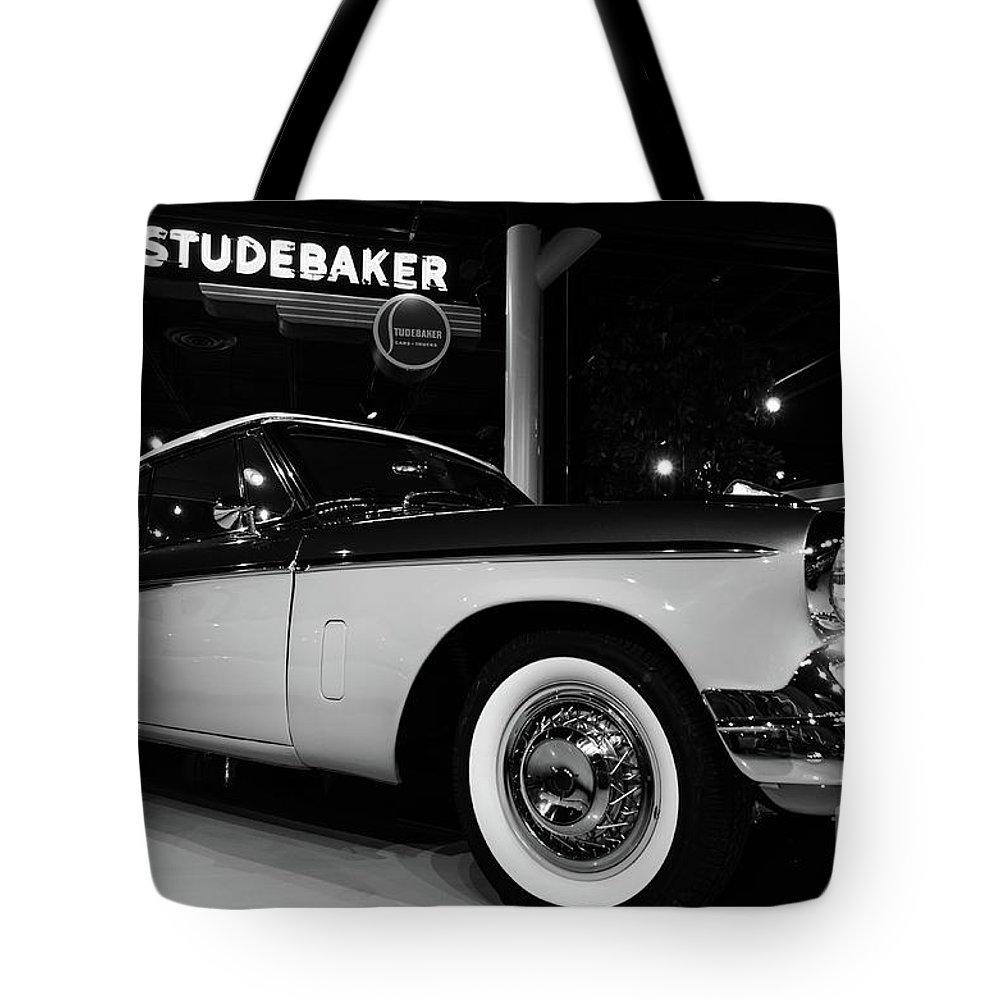 Studebaker Tote Bag featuring the photograph 1955 Studebaker President Speedster by Steven Heim