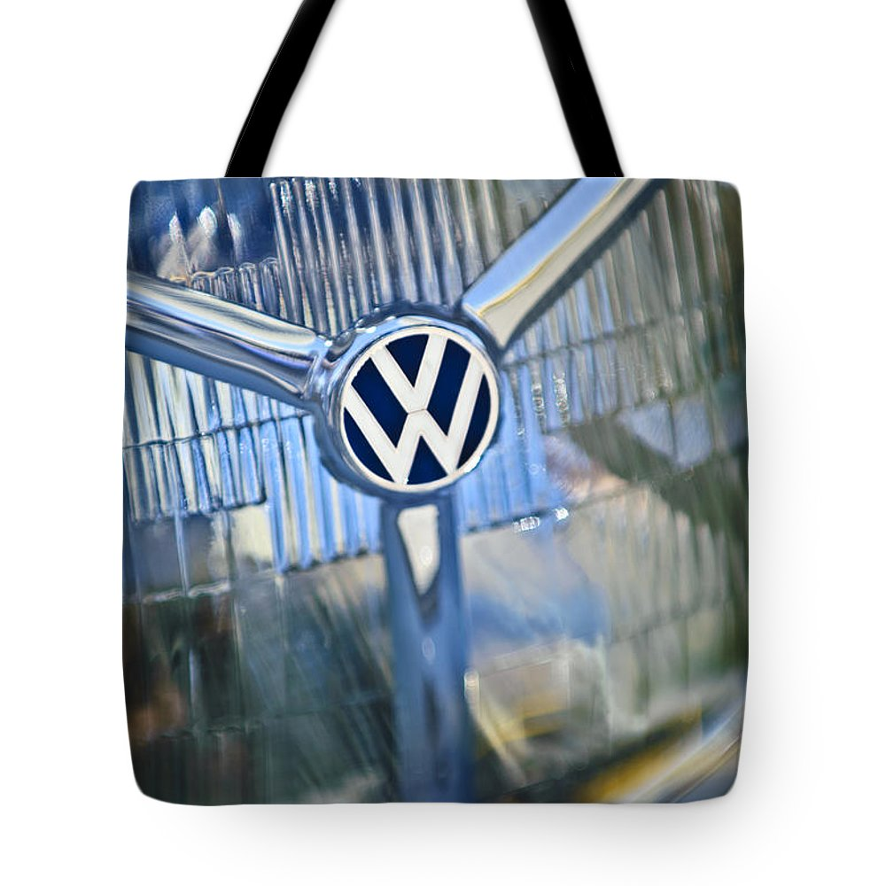 1956 Volkswagen Vw Bug Tote Bag featuring the photograph 1956 Volkswagen Vw Bug Head Light by Jill Reger