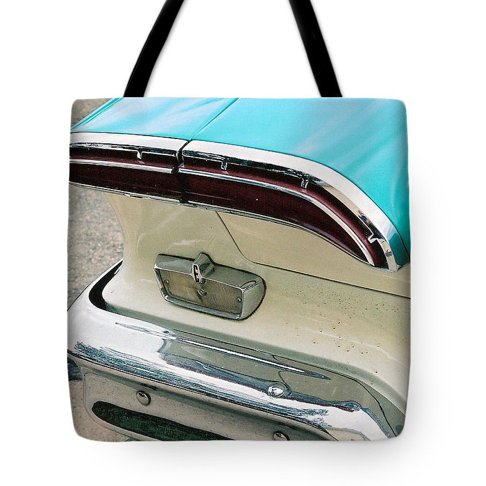 1958 Edsel Tote Bag featuring the photograph 1958 Edsel Pacer Tail Light by Lauri Novak