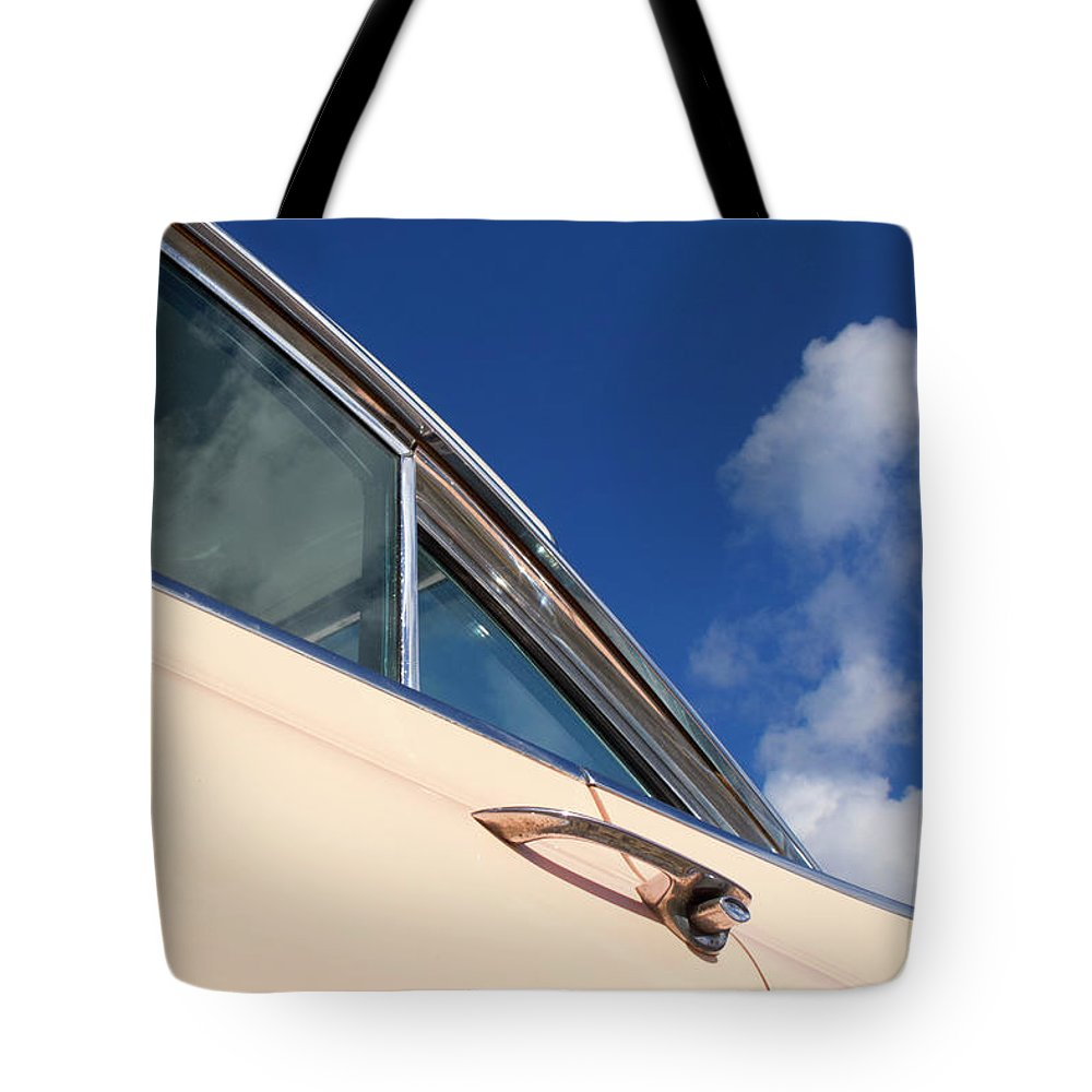 Cherished Tote Bag featuring the photograph 1959 Cadillac Coupe De Ville 09 by Richard Nixon