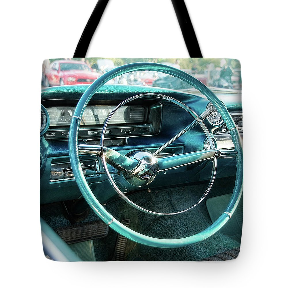 1959 Cadillac Sedan Deville Series 62 Dashboard Tote Bag