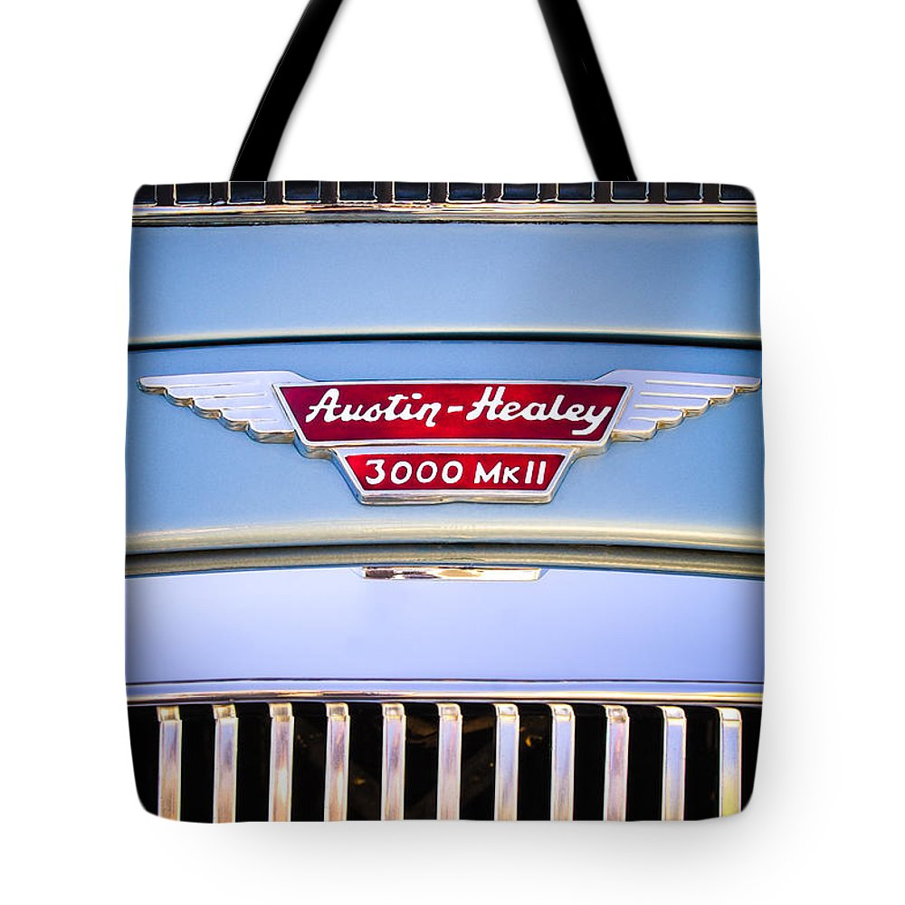 1963 Austin-healey Mark Iii Bj8 Tote Bag featuring the photograph 1963 Austin-healey Mark IIi Bj8 by Jill Reger