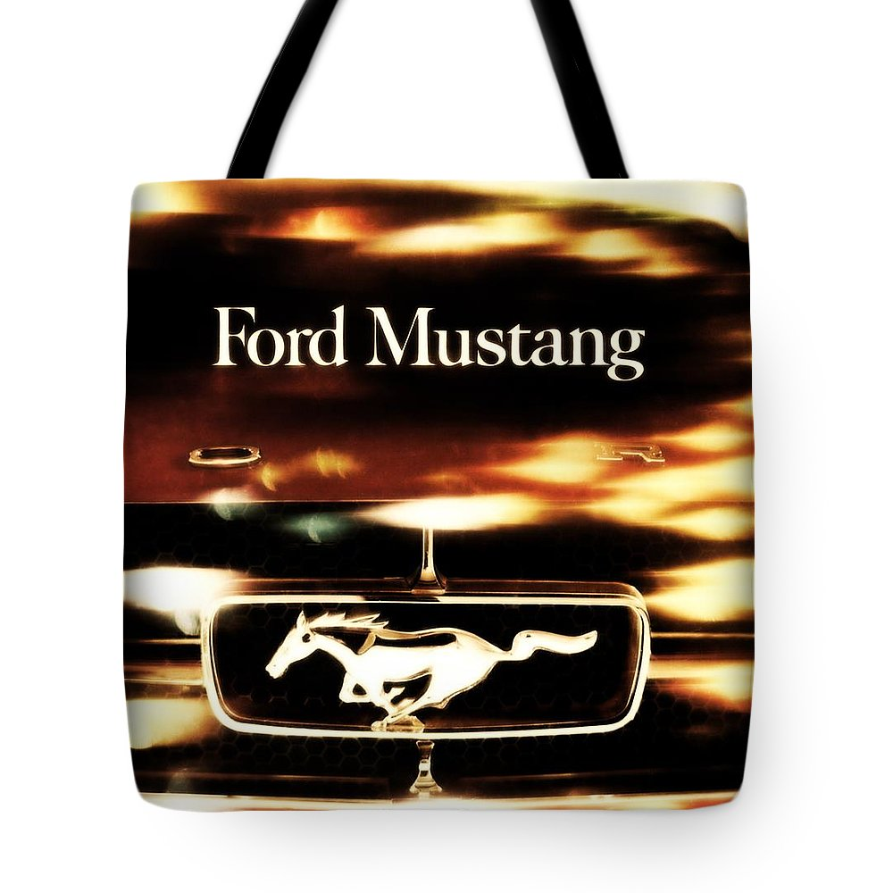 1964 Tote Bag featuring the photograph 1964 Ford Mustang by R Muirhead Art