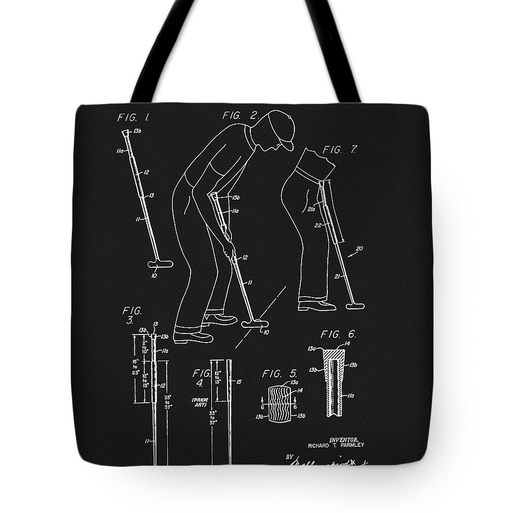 1965 Pivot Golf Putter Tote Bag featuring the drawing 1965 Pivot Golf Putter by Dan Sproul