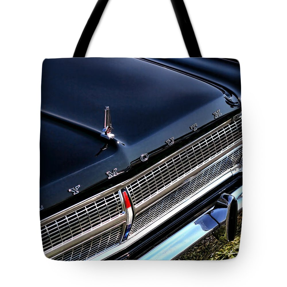 1965. Plymouth Tote Bag featuring the photograph 1965 Plymouth Satellite 440 by Gordon Dean II