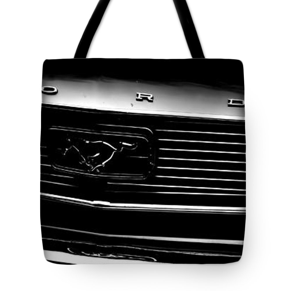 Ford Mustang Tote Bag featuring the photograph 1966 Ford Mustang by Cathy Anderson