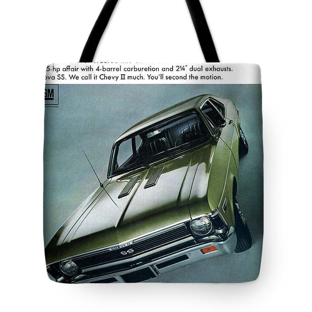 1968 Chevy Nova Ss Tote Bag For Sale By Digital Repro Depot Featuring The Art