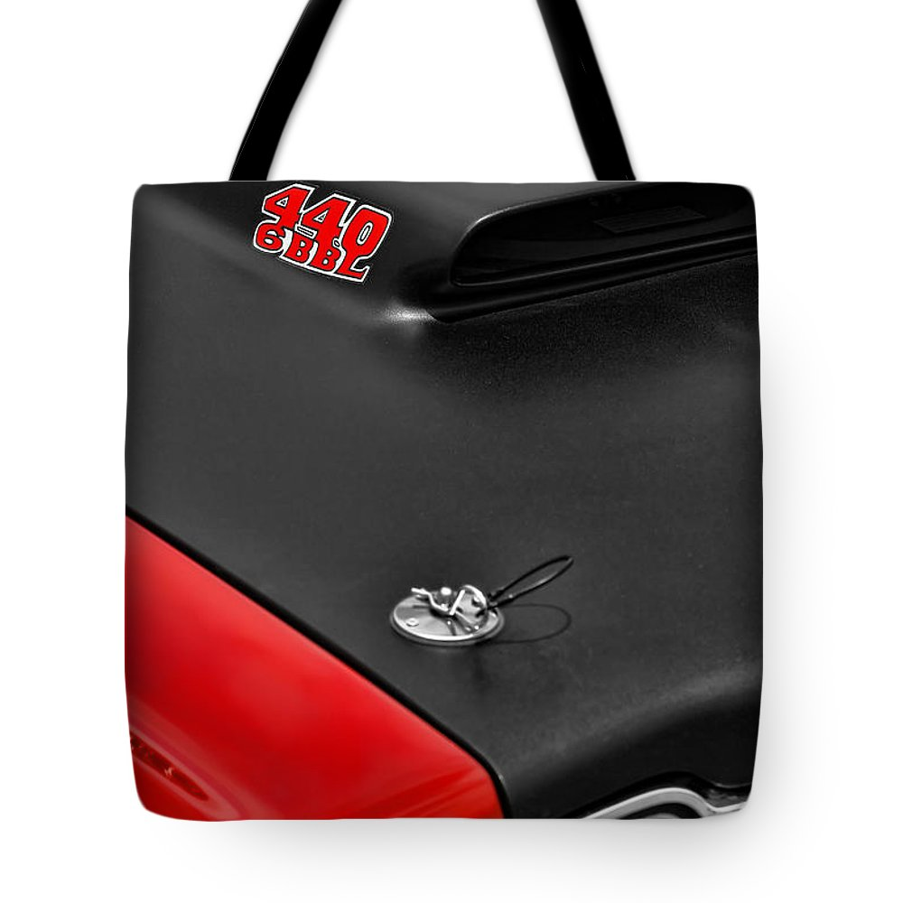 426 Tote Bag featuring the photograph 1969 Plymouth Road Runner 440 by Gordon Dean II