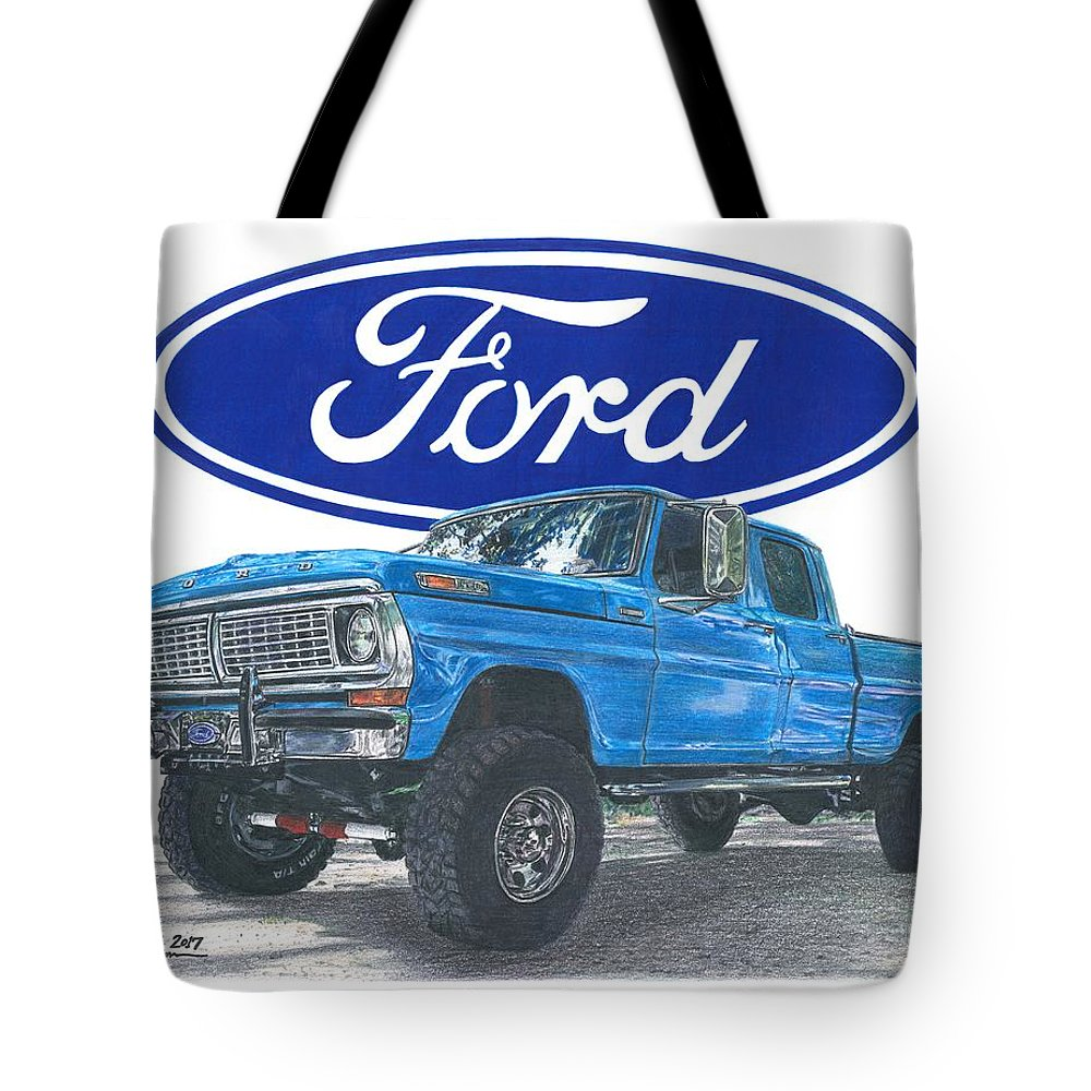 1970 Ford F 250 Crew Cab Tote Bag For Sale By Chris Brown