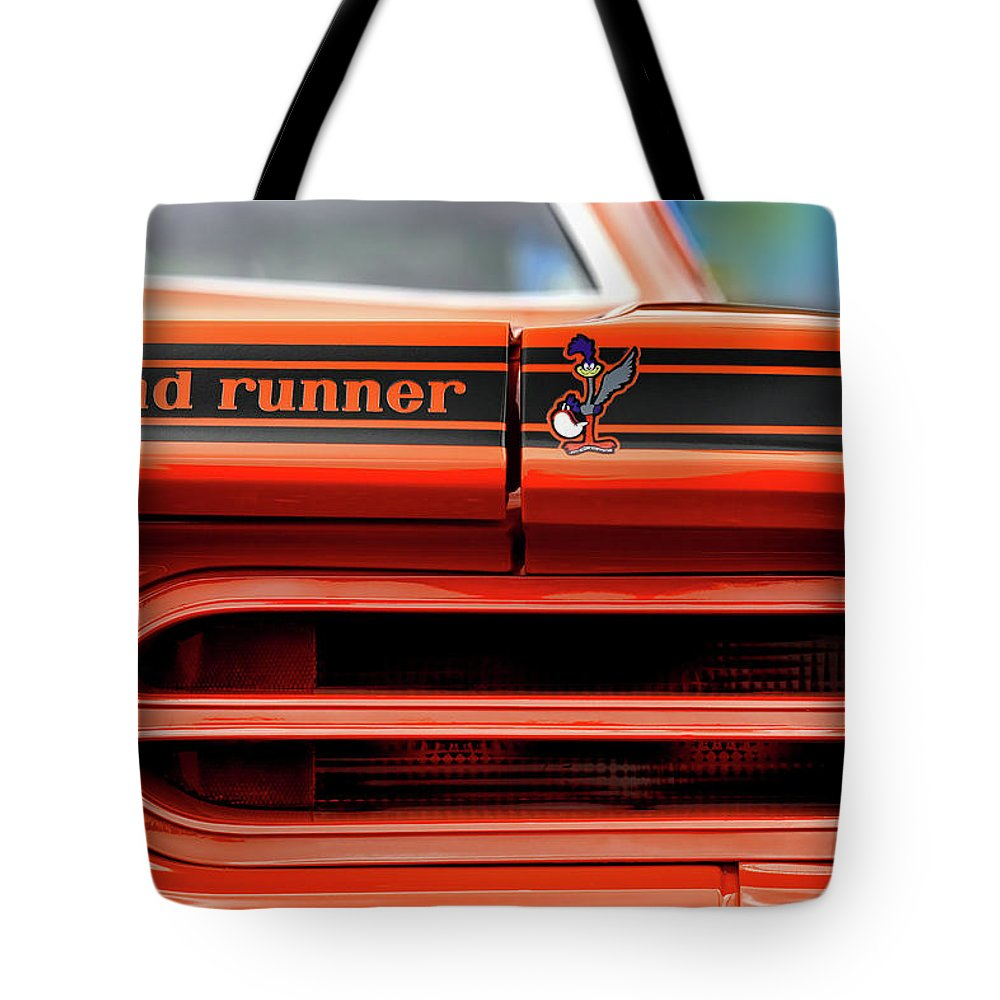 1970 Tote Bag featuring the photograph 1970 Plymouth Road Runner - Vitamin C Orange by Gordon Dean II