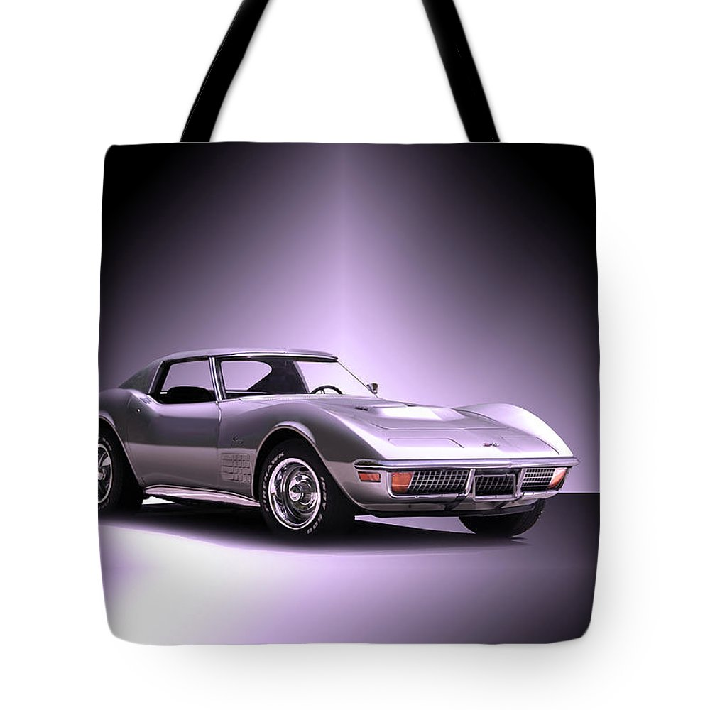 Auto Tote Bag featuring the photograph 1971 Corvette Stingray 427 Zr1 II by Dave Koontz
