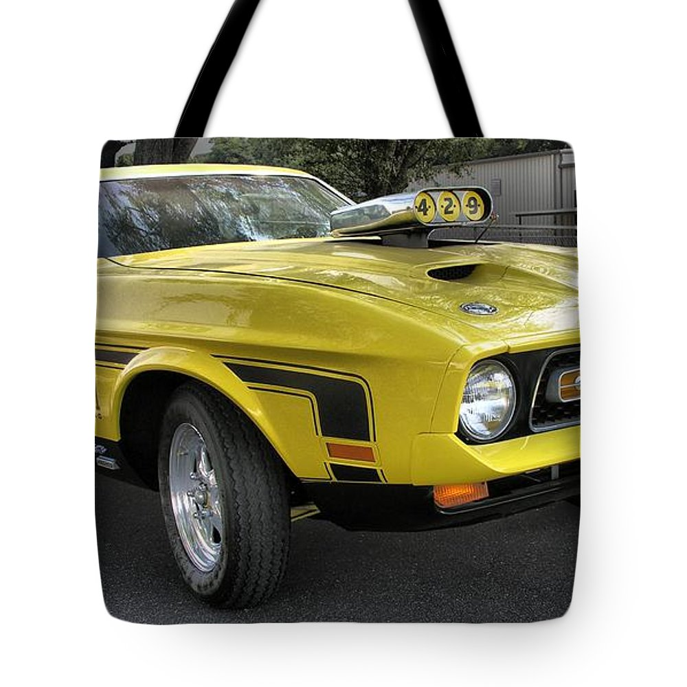 1972 Ford Mustang Mach 1 Tote Bag for Sale by Richard Rizzo