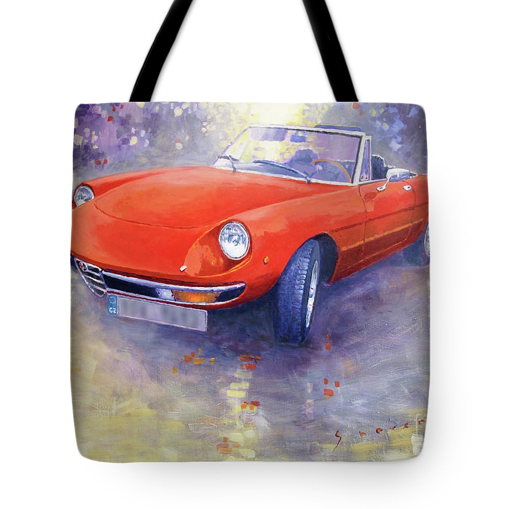 Alfa Romeo Spider Veloce Tote Bag For Sale By Yuriy Shevchuk - 1980 alfa romeo spider for sale