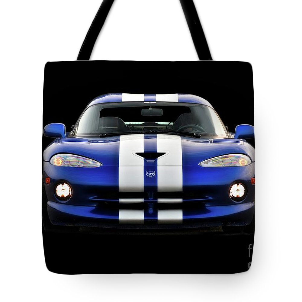 Auto Tote Bag featuring the photograph 1995 Dodge Viper Coupe II by Dave Koontz
