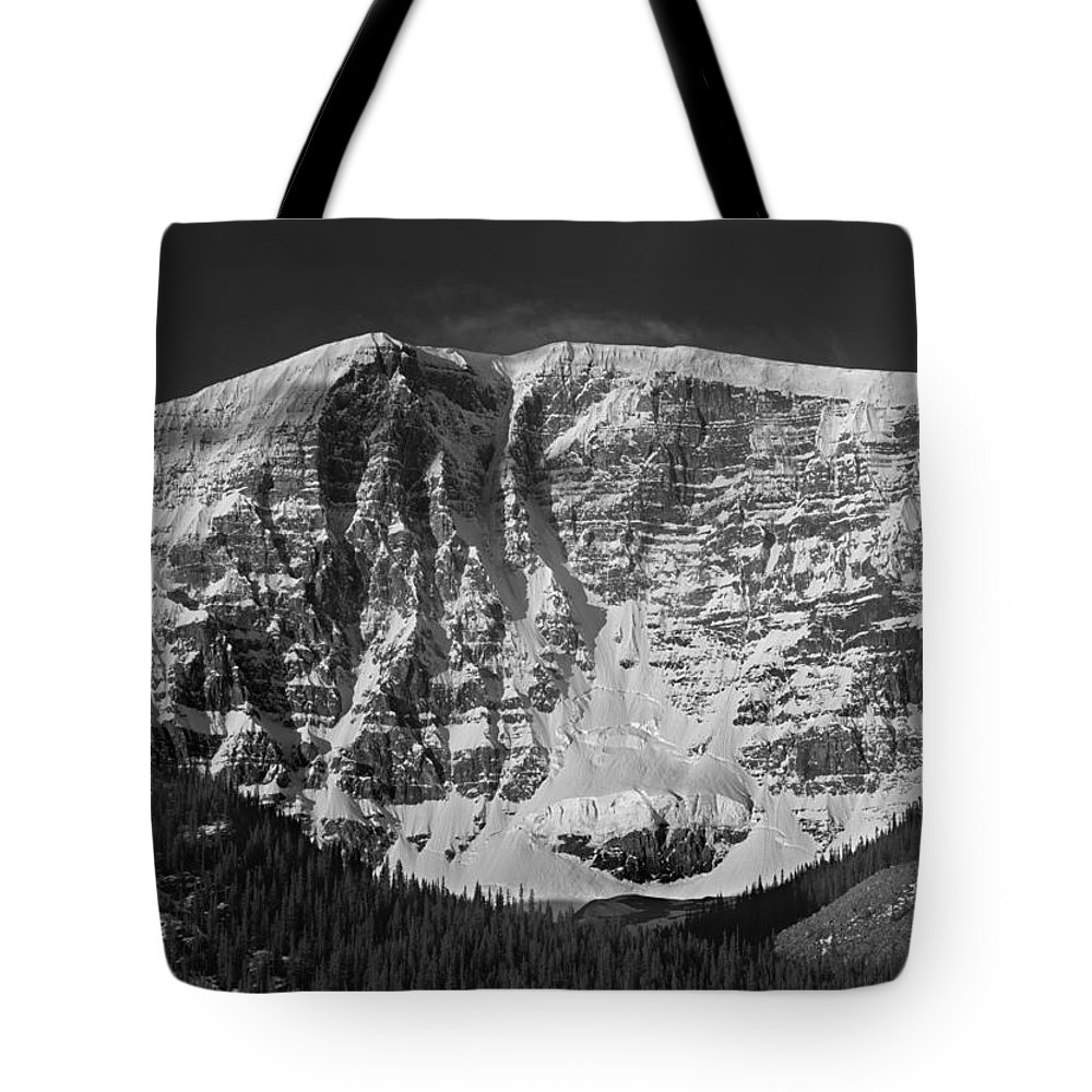 East Face Tote Bag featuring the photograph 1m3769 Bw East Face Mt Kitchner by Ed Cooper Photography