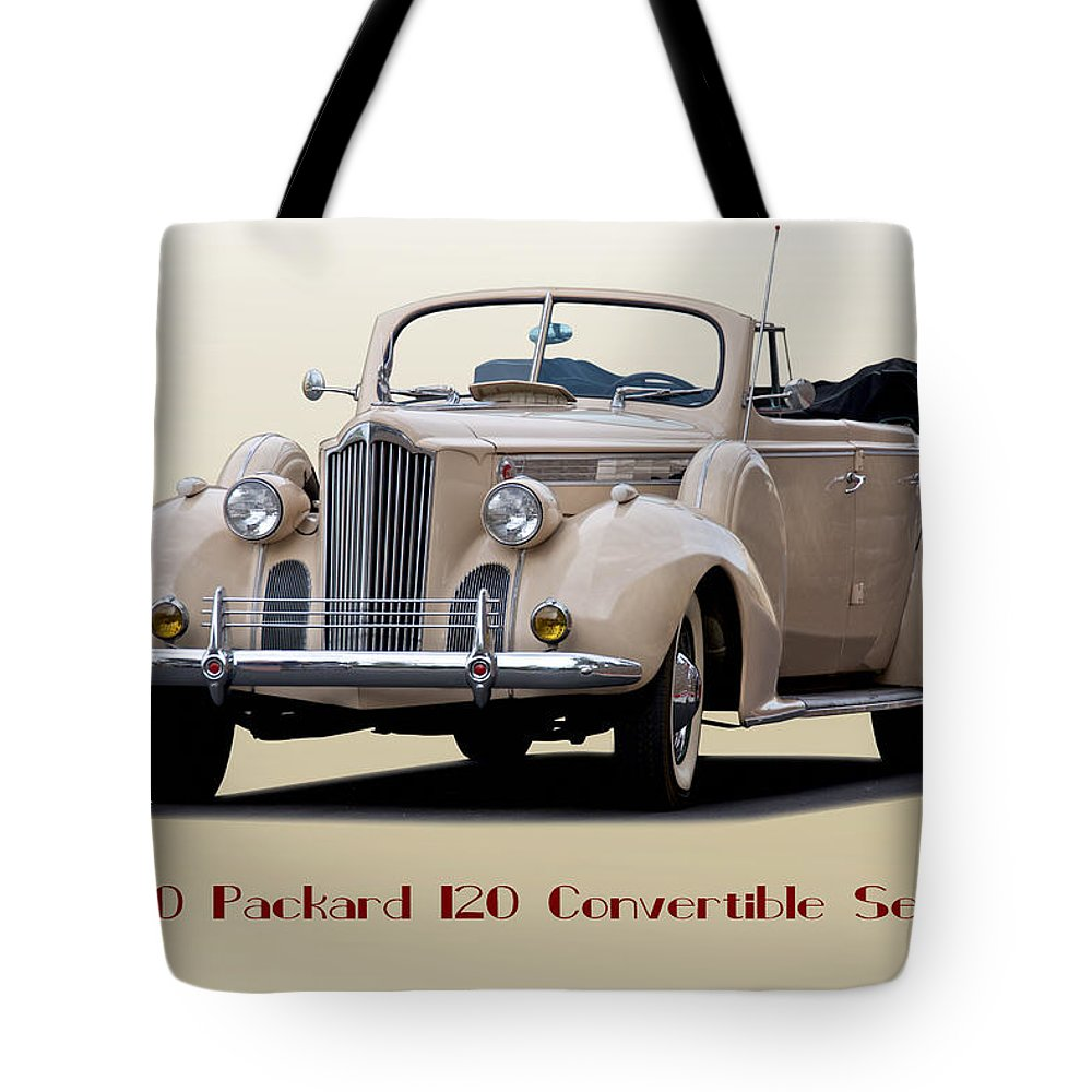 Automobile Tote Bag featuring the photograph 1940 Packard 120 Convertible Sedan by Dave Koontz