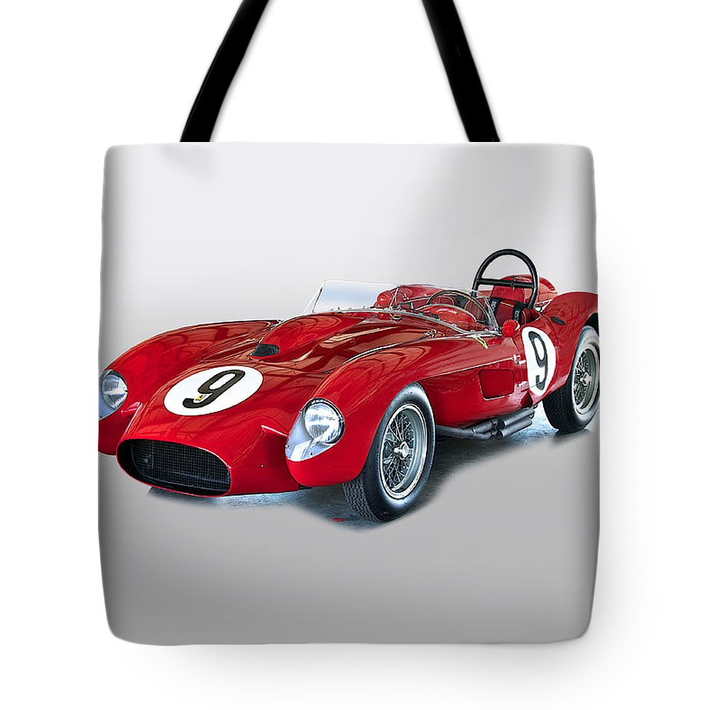Auto Tote Bag featuring the photograph 1958 Ferrari 250gt Testa Rossa by Dave Koontz