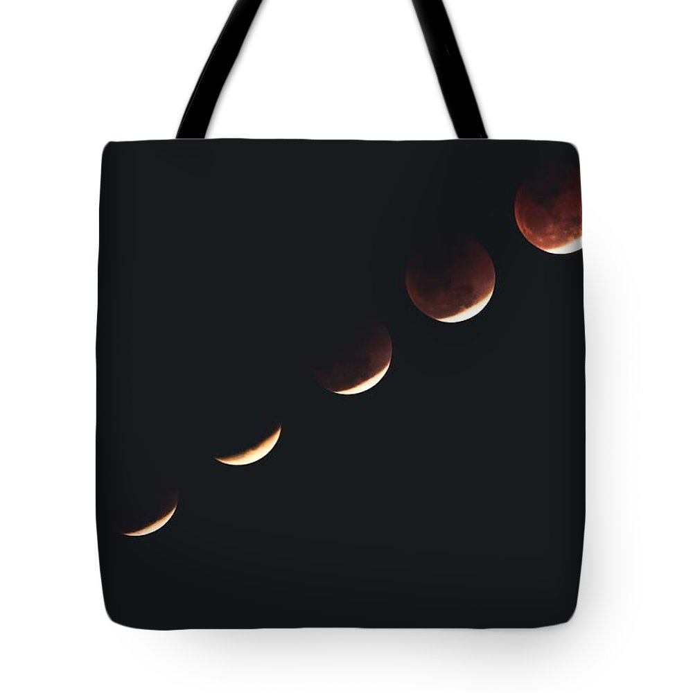 2018, The Super Blue Blood Moon Phases Tote Bag