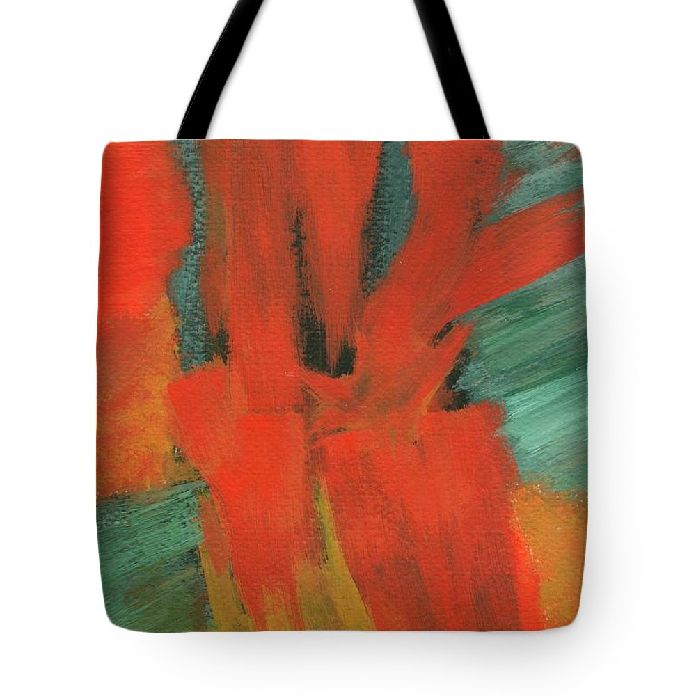 Abstract Tote Bag featuring the painting A Moment In Time by Itaya Lightbourne