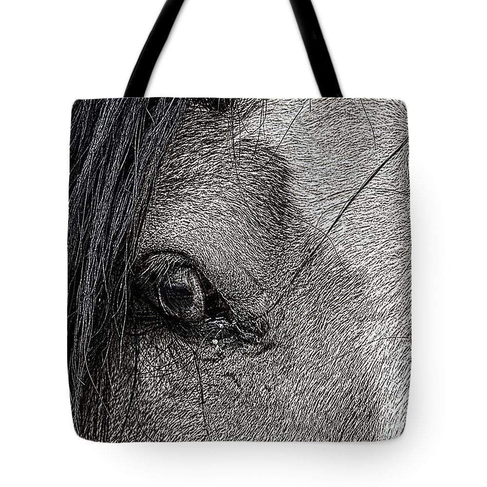 Horse Tote Bag featuring the photograph A37 by Tom Griffithe