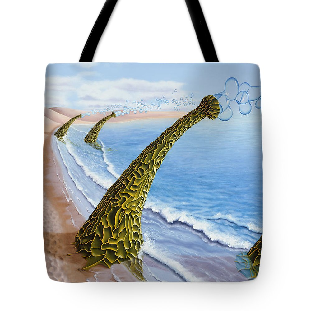 Tree Tote Bag featuring the painting Agaricia Bullio by Patricia Van Lubeck