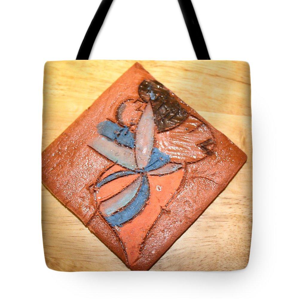 Jesus Tote Bag featuring the ceramic art Akaweese - Tile by Gloria Ssali