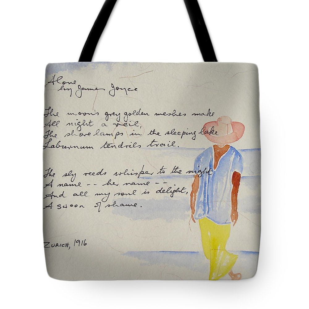 Love Heart Valentines Tote Bag featuring the painting Alone by Roger Cummiskey