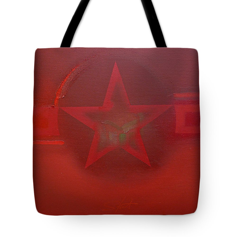 Landscape Tote Bag featuring the painting American Landscape by Charles Stuart