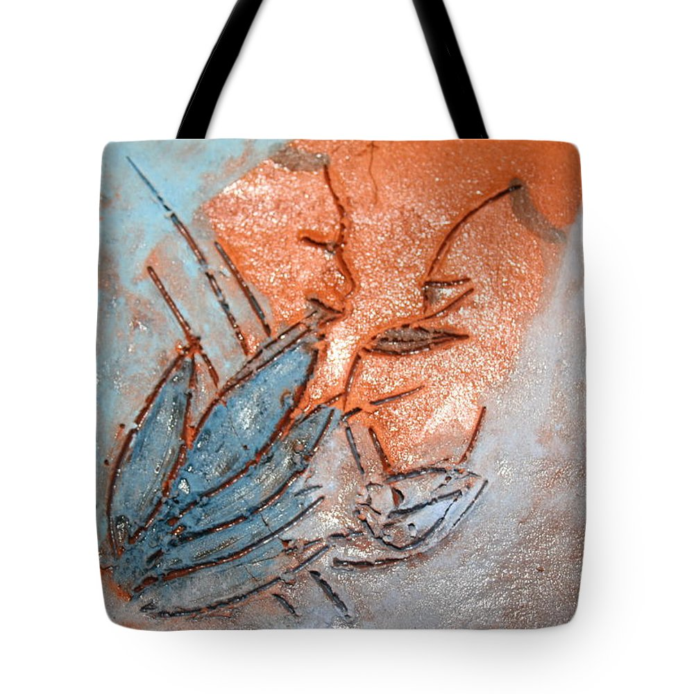 Jesus Tote Bag featuring the ceramic art Aweese - Tile by Gloria Ssali