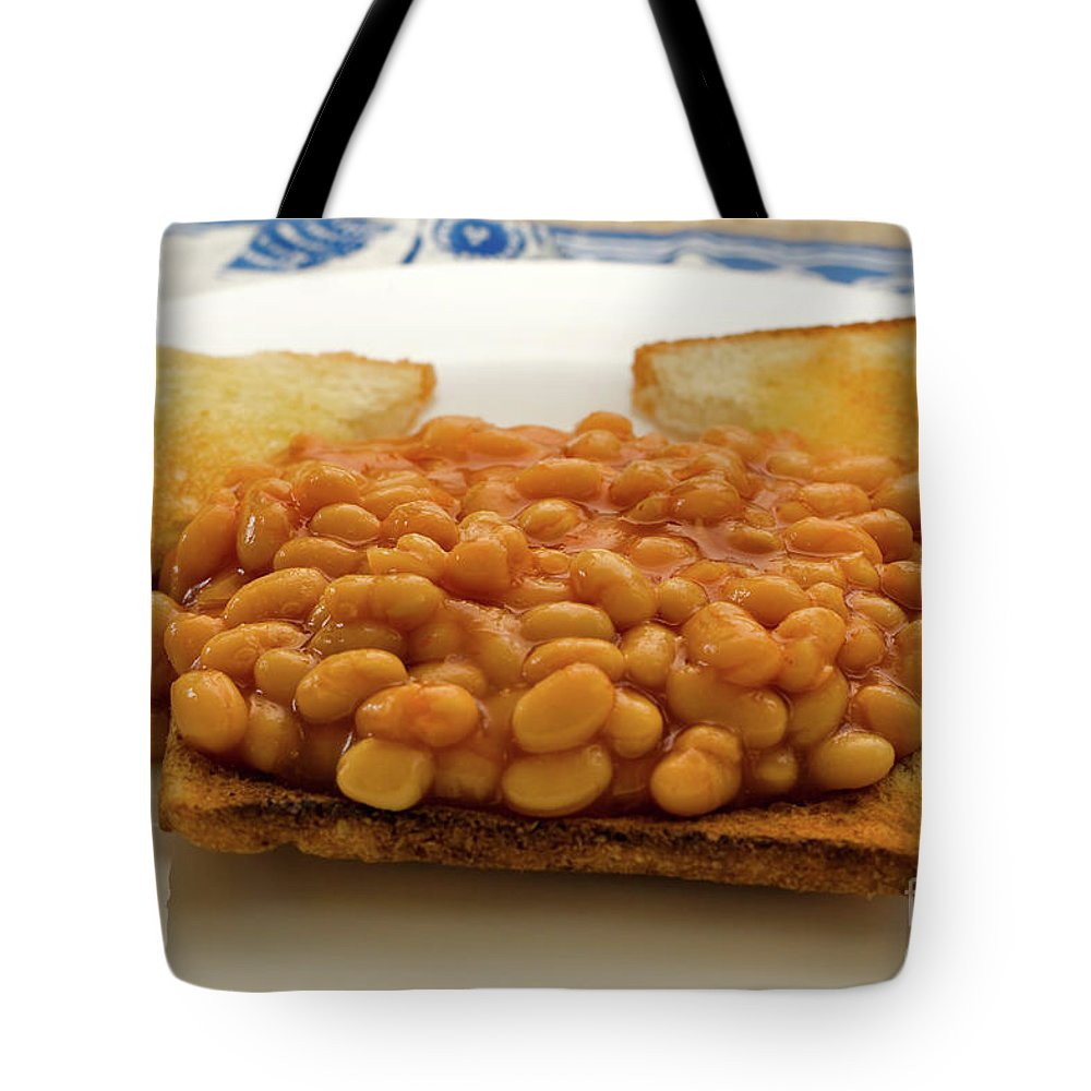 Baked Tote Bag featuring the photograph Baked Beans On Toast by Louise Heusinkveld