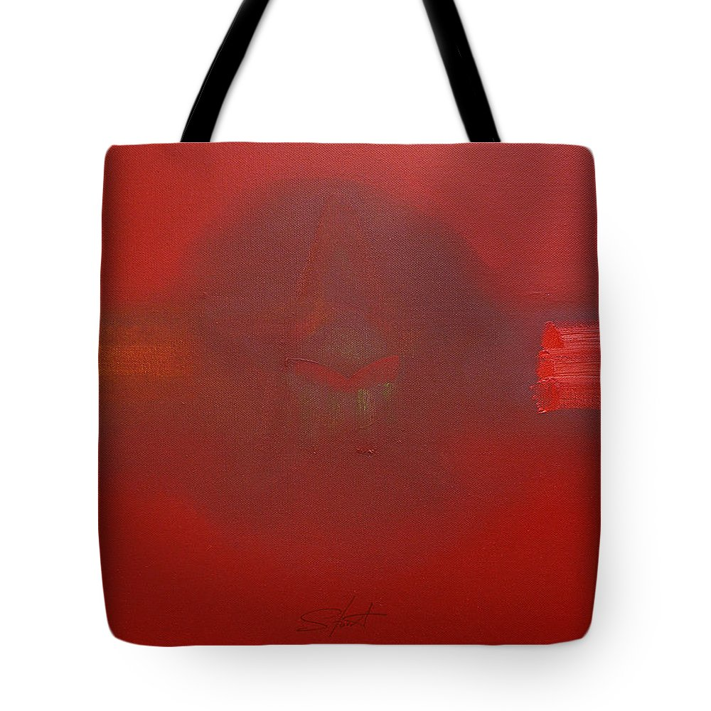 Decal Tote Bag featuring the painting Balance Of Power by Charles Stuart