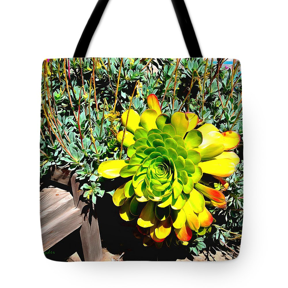 Succulent Study 2 Tote Bag featuring the painting Succulent Study 2 by Barbara Snyder