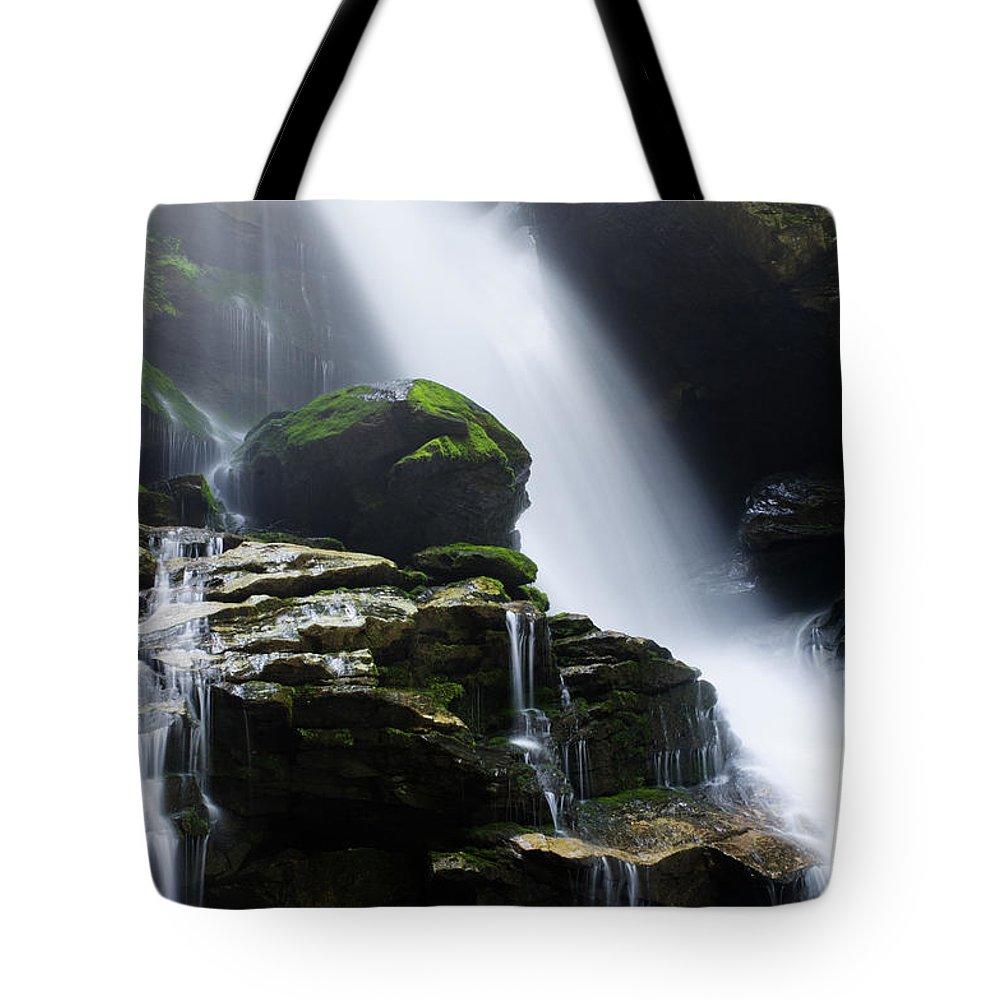 Big Tote Bag featuring the photograph Big Bradley Falls North Carolina by Chip Laughton