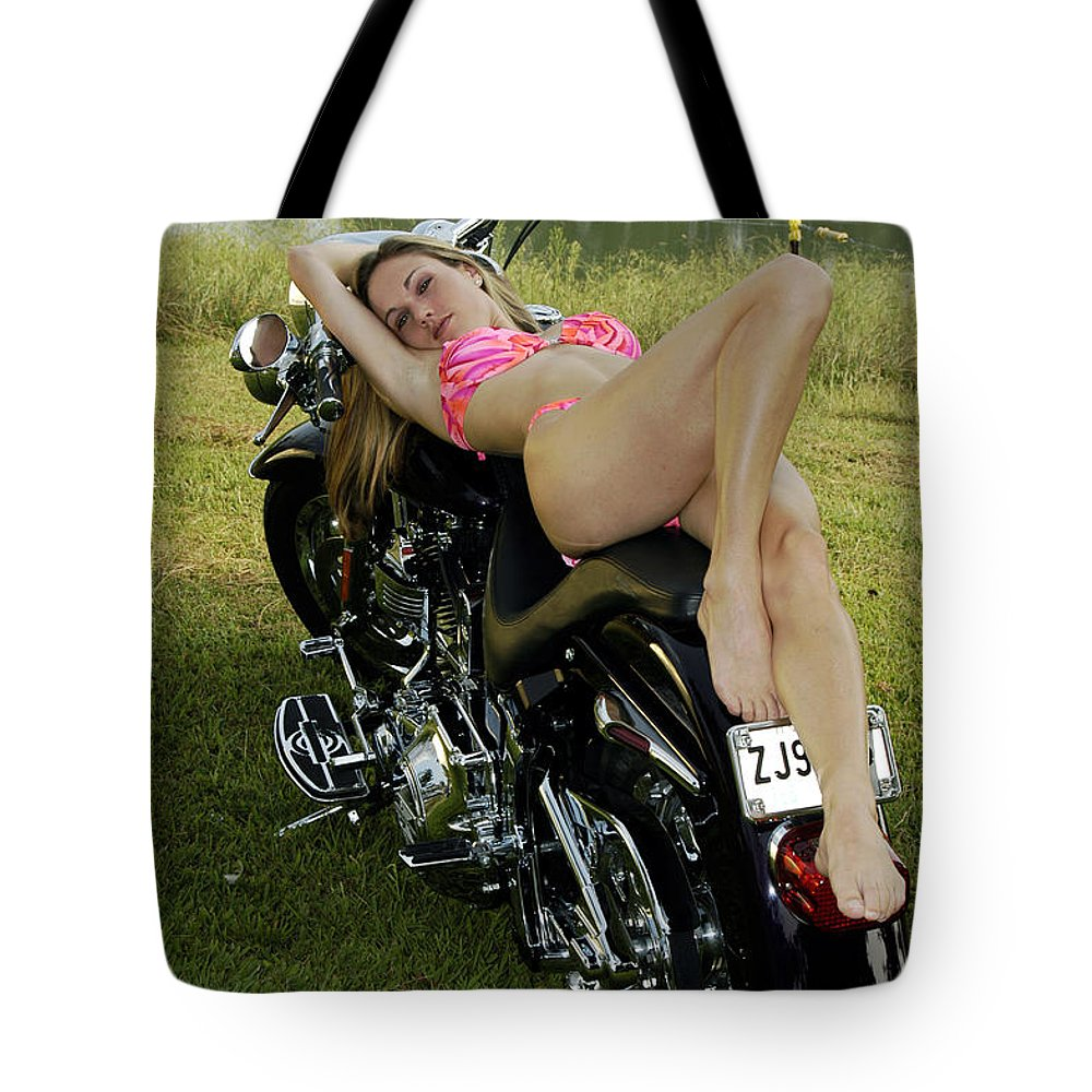 Tote Bag featuring the photograph Bikes And Babes by Clayton Bruster