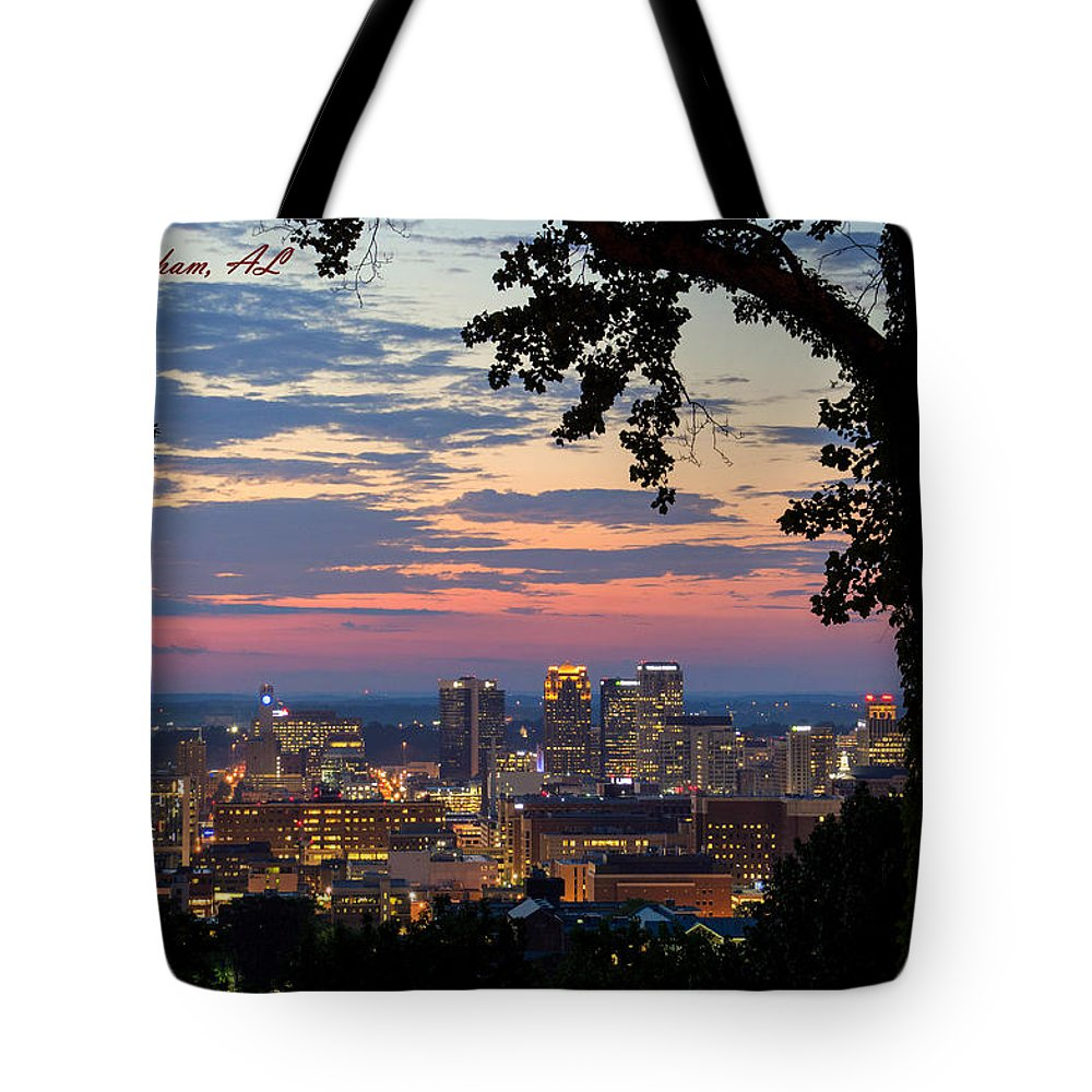 Downtown Birmingham Tote Bag featuring the photograph Birmingham Skyline by Jeffery Gordon
