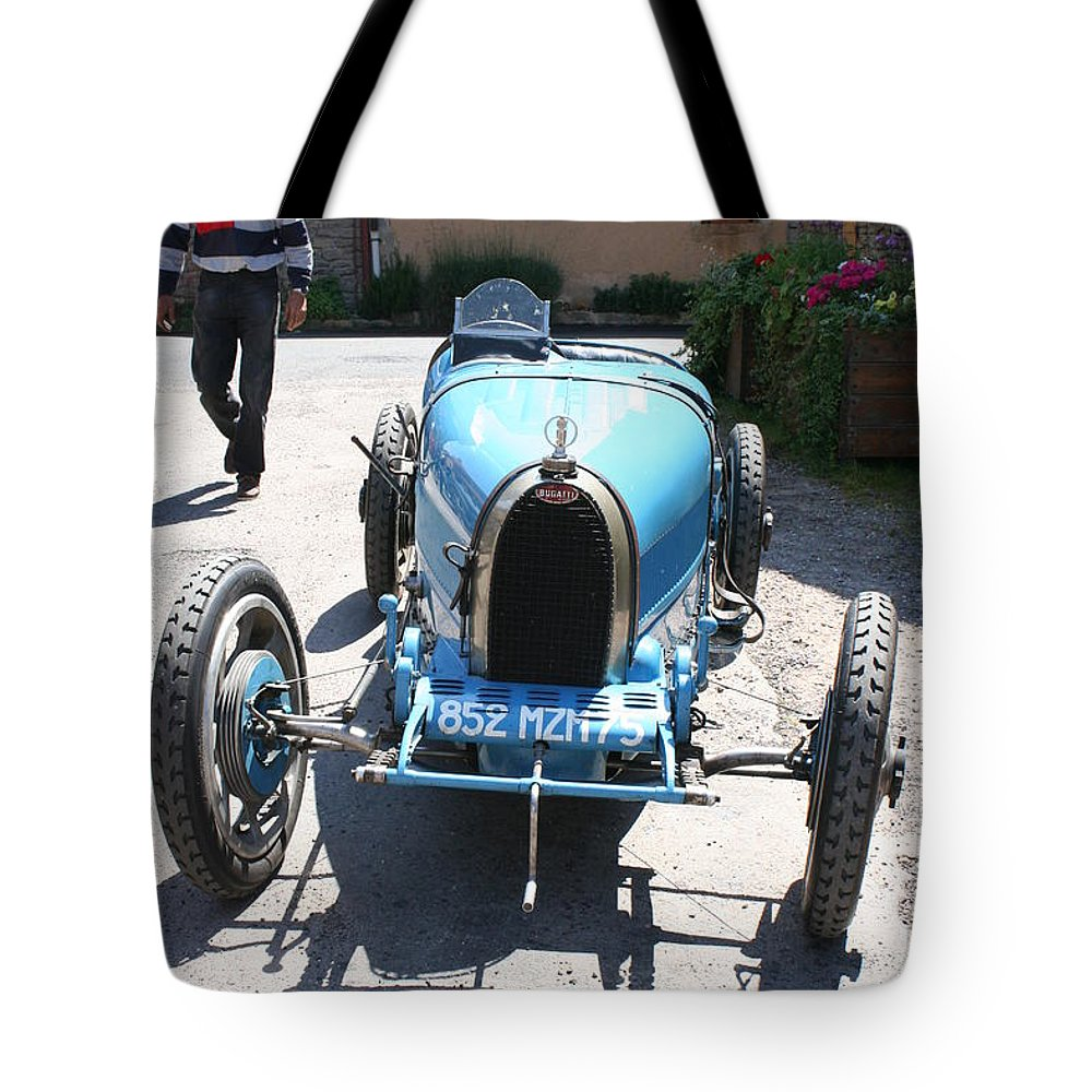 Oldtimer Tote Bag featuring the photograph Blue Oldtimer by Christiane Schulze Art And Photography