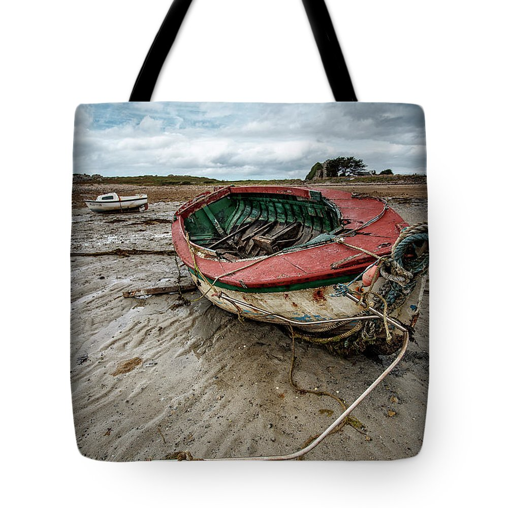 Boat Tote Bag featuring the photograph Boats By The Sea by Nailia Schwarz