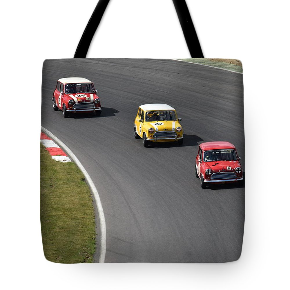 Brands Hatch Tote Bag featuring the photograph Brands Hatch Mini Festival by Stephen Hulme
