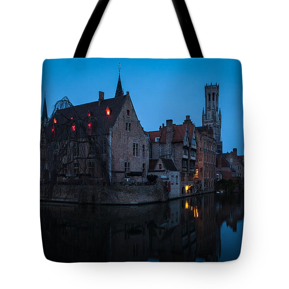Belfort Tote Bag featuring the photograph Bruges by Johannes Valkama